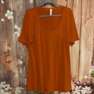 LuLaRoe orange tunic size 2XL
